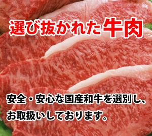 選び抜かれた牛肉